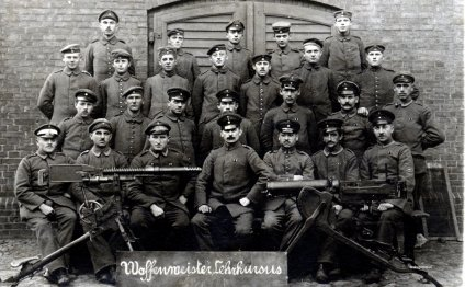 German soldiers posing for a