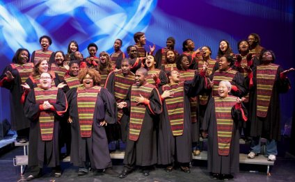Choral ensemble in robes