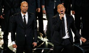 Common and John Legend perform Glory at the Oscars last year.