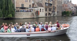 LCCS choristers take a canal trip in Bruges