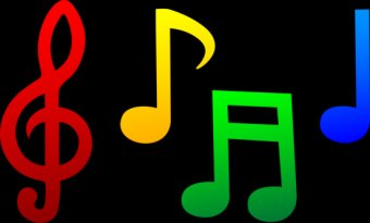 musical_notes_set_color - free clipart