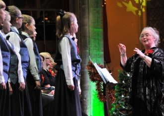 The Eastern Daily Press Festival of Carols at St Andrew's Hall. The Broadland Youth Choir conducted by musical director Carole Tims. Picture by SIMON FINLAY.