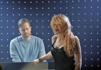 "Todd Almond and Courtney Love in ""Kansas City Choir Boy"" at Oberon."