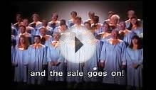 "ABC Warehouse Choir ""and the sale goes on."""