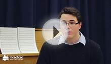James talks about the Choral Scholarship Programme at