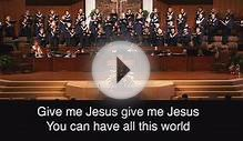 South Tulsa Baptist Choir, Give Me Jesus, February 1, 2015