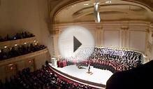 Tesoro High School at Carnegie Hall Total Choir With