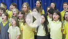The school choir singing a Christmas song Dec 2012